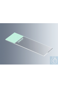 Microscope slides UniMark® green, cut edges with green marking field, approx. 76x26x1 mm, cut...