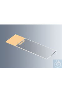 Objektträger UniMark® orange, Kanten geschnitten