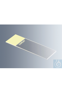 Objektträger UniMark® gelb, Kanten geschliffen