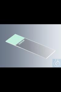 Objektträger UniMark® grün, Kanten geschliffen