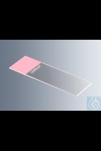 Objektträger UniMark® rosa, Kanten geschliffen