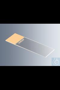 Objektträger UniMark® orange, Kanten geschliffen