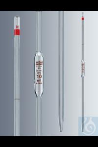 Vollpipetten 10 ml, Klasse AS konformitätsbescheinigt