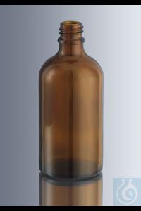 Tropfflaschen 10 ml, aus Braunglas der 3. hydrolytischen Klasse, mit DIN-Gewinde GL 18, ohne...