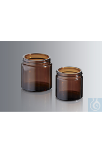 Ointment jars 60 ml, made of amber glass of the 3rd hydrolytic class, with...