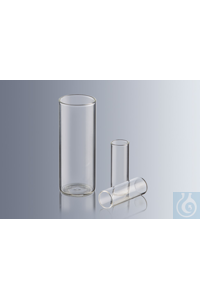 Flat bottom tubes 35x12 mm, made of soda lime glass, straight rim, ungraduated, thickness of wall...