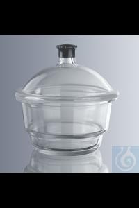 Exsikkatoren ohne Hahn, 300 mm Durchmesser hergestellt aus Borosilikatglas 3.3 Simax,...