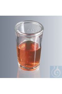 Medicine glasses 25 ml, pressed glass, without base, with rim and pressed...