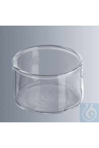 Crystallizing dishes 70x40 mm (Ø x H), 50 ml without spout, borosilicate glass 3.3, cylindrical,...