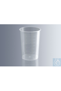 Urine cups 150 ml, without lid, made of polypropylene, resistant to pressure,...