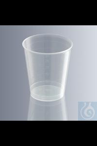 Medicine cups 30 ml, division 1 ml, made of highly transparent polypropylen...