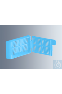 Embedding cassettes Biopsy, light blue, made of high-quality, technical...