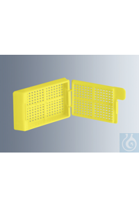 Embedding cassettes Biopsy, yellow, made of high-quality, technical plastic...