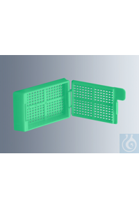 Embedding cassettes Biopsy, light green, made of high-quality, technical...