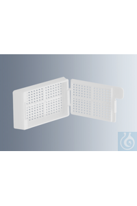 Embedding cassettes Biopsy, white, made of high-quality, technical plastic...