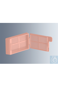 Embedding cassettes Biopsy, pink, made of high-quality, technical plastic...