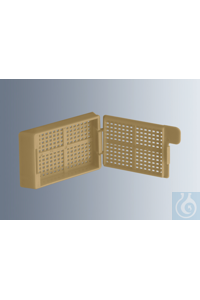 Embedding cassettes Biopsy, beige, made of high-quality, technical plastic...