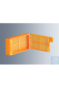 Embedding cassettes Biopsy, orange, made of high-quality, technical plastic...