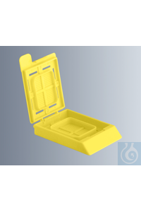 Embedding cassettes BioNet, yellow, made of high-quality, technical plastic...