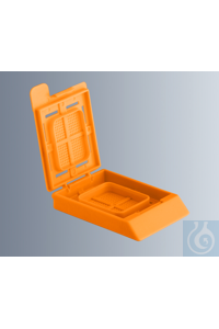 Embedding cassettes BioNet, orange, made of high-quality, technical plastic...