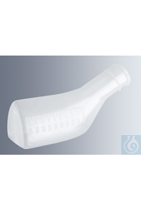 Urinals 1'000 ml, made of transparent polypropylene, autoclavable at 121 °C,...