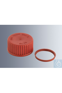 Pouring rings GL 32, made of red PBT (max. temp. 180 °C), packing unit = 10 pieces