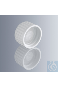 Screw cap, white, with DIN thread GL 18, made of urea resin 131.5 with...