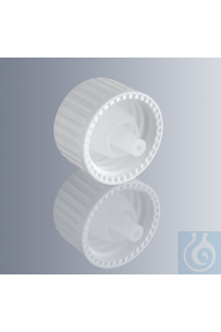 Screw caps made of white HDPE, with DIN thread GL 18, with dropper insert UNI...
