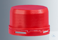 Tamper-evident screw caps GL45,  made of red polypropylene, for VITgripTM bottles, 6 pieces...