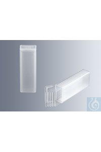 Slide mailers for 5 microscope slides (approx. 76x26 mm) made of polypropylene, with secure...