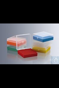 Aufbewahrungsboxen für Röhrchen und Vials, PP transparent