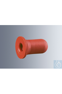 Gummihütchen für Tropfpipetten, Saugvolumen ca. 0,8 ml, rot, zu 100 Stück verpackt