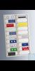 Präparatetafeln für 20 Objektträger 76x26 mm hergestellt aus Pappe, ohne Deckel, mit Nummerierung...