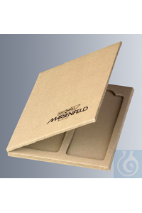 Preparation pasteboards for 2 microslides 76x26 mm made of cardboard, with cover, dimensions:...
