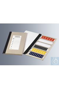 Preparation pasteboards for 2 microslides 76x26 mm made of cardboard, with cover and reinforced...
