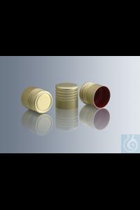 Aluminium screw caps for culture medium tubes with thread cap-alu 16,...