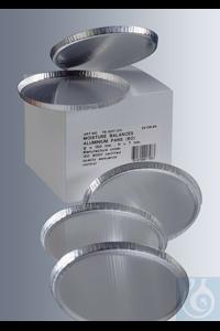 Probeschalen aus Aluminium, Durchmesser 100 mm Randhöhe 7 mm, Volumen ca. 58 ml, mit extrem...