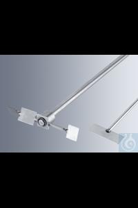 Rührflügel, aus rostfreiem Stahl, passend für Laborrührwerke R14 Gesamtlänge: 175 mm Breite: 38...