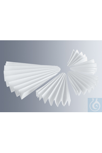 Folded paper filters Munktell grade 6, 125 mm Ø for ordinary qualitative-technical filtration...