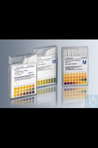 pH universal indicator strips, pH 0-14, non-bleeding, plastic box containing...