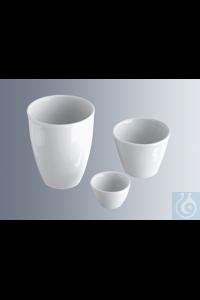 Schmelztiegel, 30 mm Durchmesser, hohe Form Porzellan, glasiert, ohne Deckel, 38 mm hoch, 15 ml...