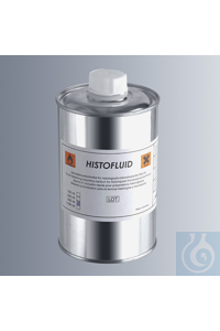 Histofluid, quick-hardening mounting medium, filled in tin bottles for hazardous goods marked...