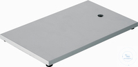 Retort Stand Base 300 X 150 mm steel*thickness 8 mm*powdercoated*M 10 threaded*rubber feet