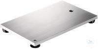 Stativplatte rostfrei 315 X 200 mm, mit Gewinde M10 Dicke 8 mm, geschliffene Oberfläche,...
