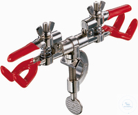 Burette Clamp Double with Bosshead zinc diecasting, nickel plated*vinyl...