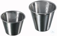 Becher, 51 X 35 mm (Ø X H), 30 ml, rostfreier Edelstahl, graduiert Becher, 51 X 35 mm (Ø X H), 30...