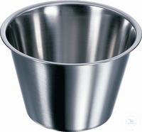 Schale, 105 X 65 mm (Ø X H), rostfreier Edelstahl, konisch Schale, 105 X 65 mm (Ø X H),...