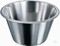 Schüssel, 245 X 120 mm (Ø X H) 3,0 L, rostfreier Edelstahl, konisch