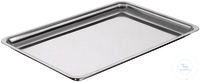 Instrument tray, 400 x 270 x 10 mm stainless steel