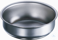 Abdampfschale 100 mm Ø, flach, rostfreier Edelstahl